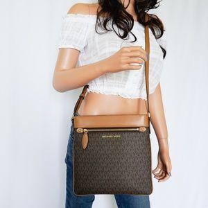 Michael Kors Connie Large Xbody Bag MK Brown Acorn